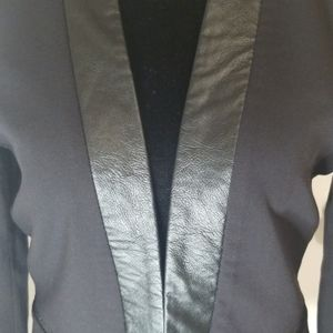 H&M Jackets & Coats - H&M open blazer with faux leather trim. Size 8.